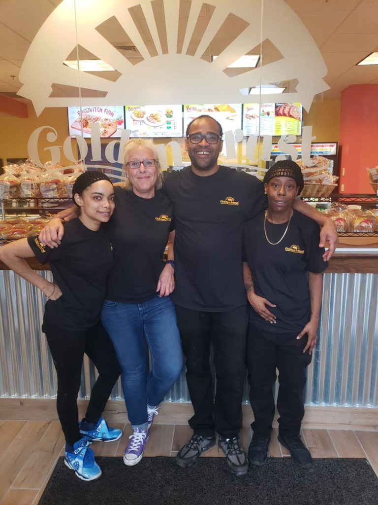 Golden Krust team at Dudley Square