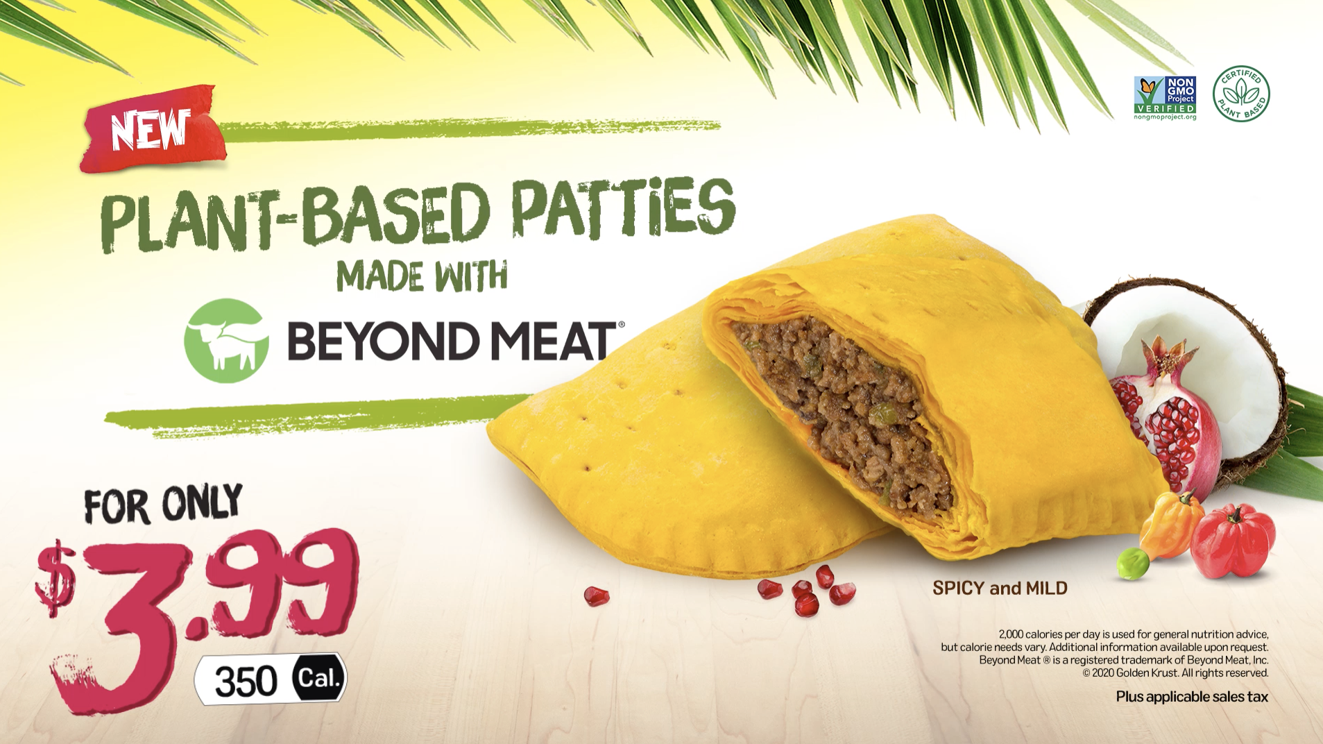 Golden Krust Plant-based Jamaican Patty